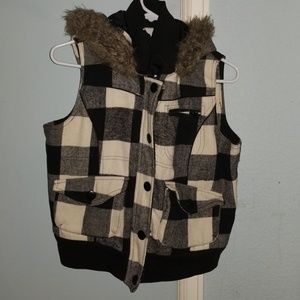 Womens hooded vest